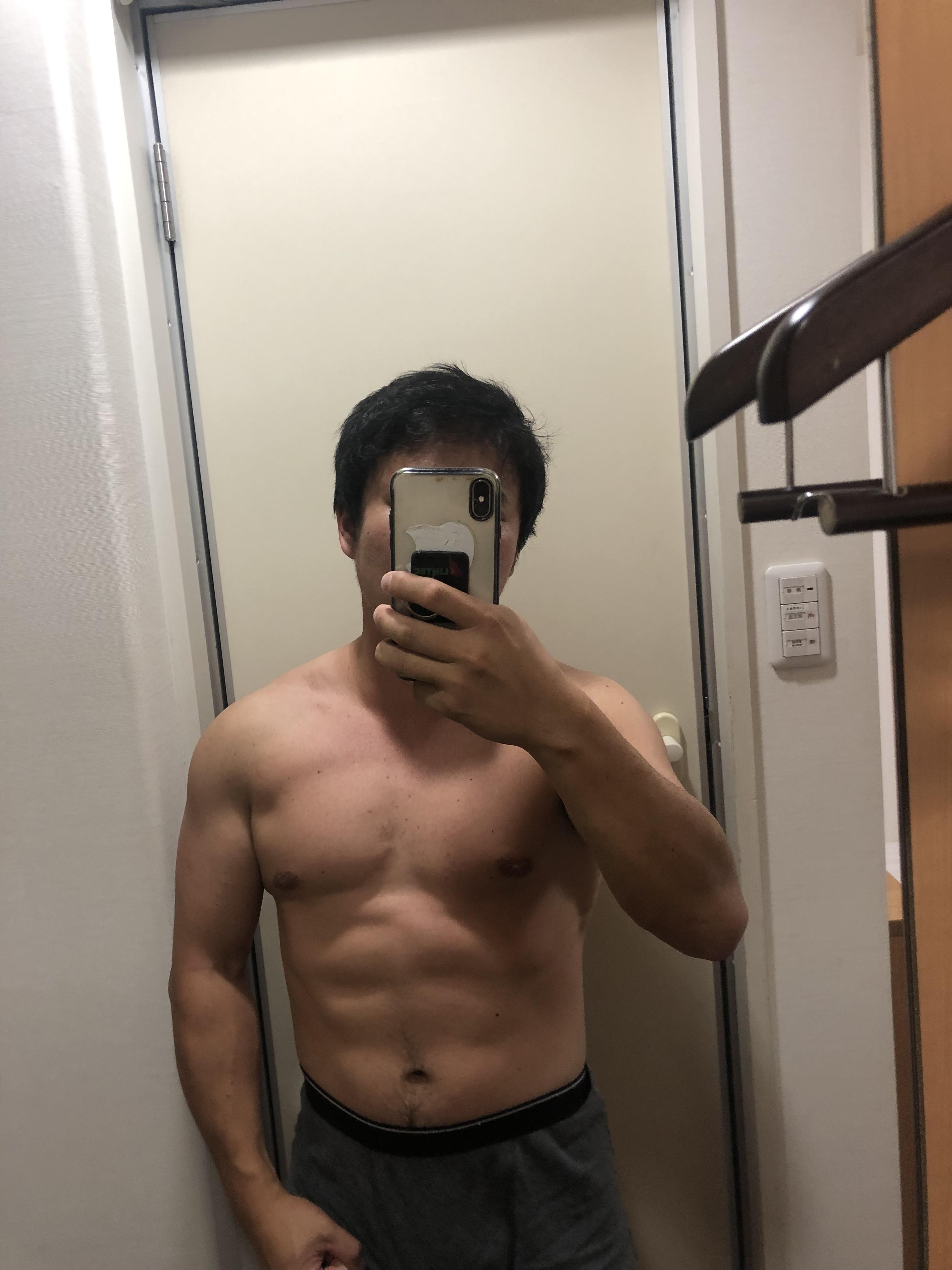ワイ筋トレ4ヶ月目の体