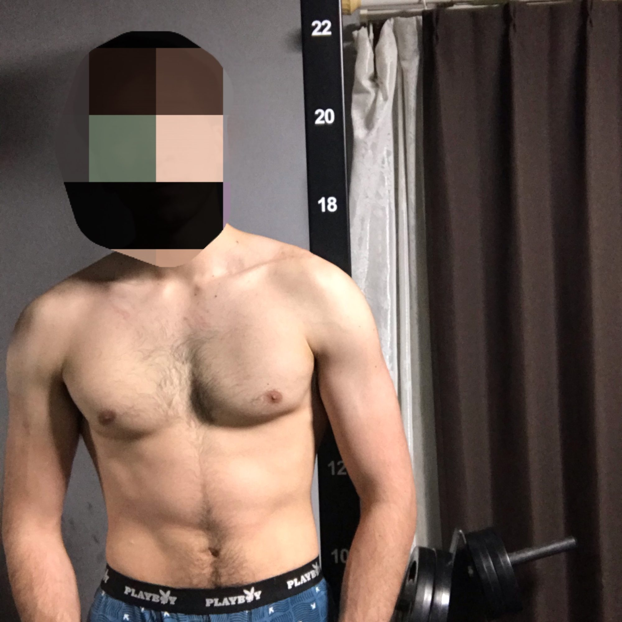 筋トレ九ヶ月目ワイの筋肉【画像あり】